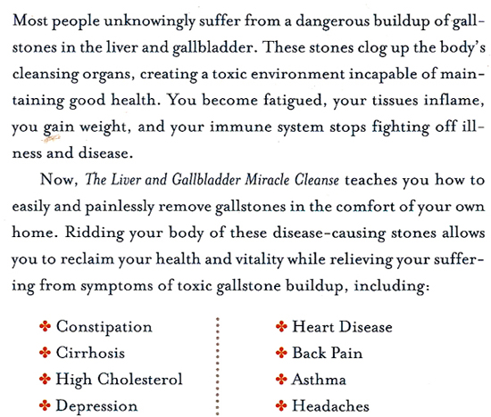 back of liver gall bladder cleanse book