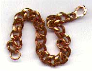 copper linked bracelet - 8 inch