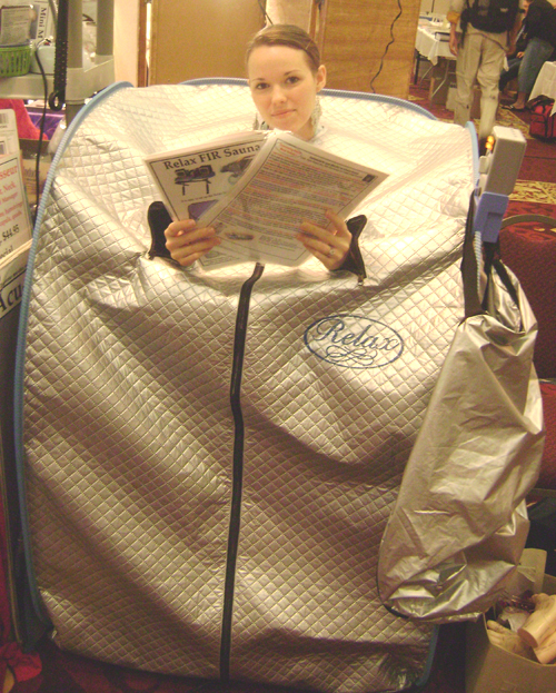 relax sauna new tent, 2008 model
